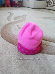 Флисовая демисезонная шапочка для девочки 2-4 г