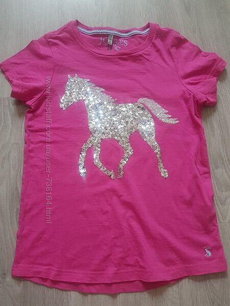 Стильная фирменная футболка девочке 9-10 л 134-140 см