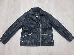 Крутая косуха кожаная курточка River Island девочке 5 л 110 см