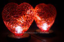 Ночной светильник ручной работы Сердце