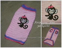 свитер для собаки вязаная одежда для собак и коше 100 грн