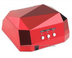 Лампа для ногтей 36 вт ccfl & led гибридная цвет красный