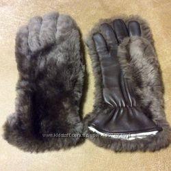 Перчатки меховые. Кожаные.