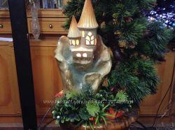 Декоративный комнатный фонтан Тюльпан керамика