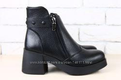 Сильные женские демисезонные ботинки. Кожа, замш. В наличии