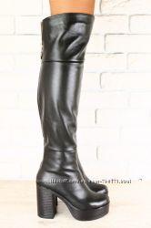 Стильные женские ботфорты. Евро зима