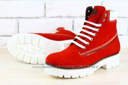 Стильные женские зимние ботинки Timberland. 3 цвета в наличии