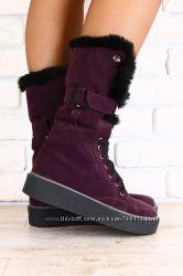 Очень стильные высокие женские ботинки. Зима