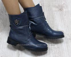 Стильные женские зимние ботинки на овчине. В наличии