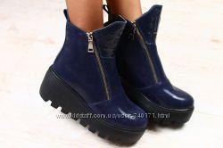 Стильные женские ботинки на толстой подошве. ЗИМА
