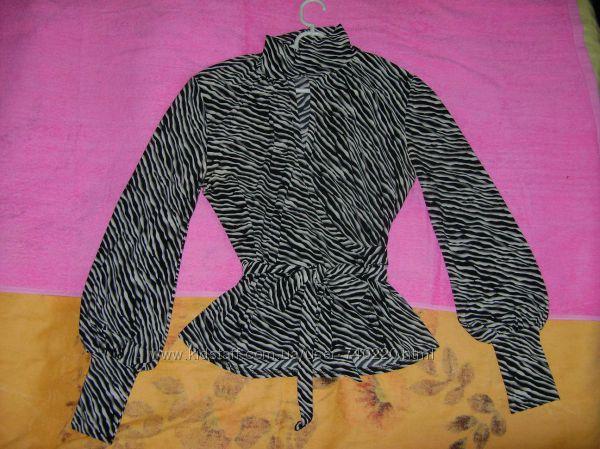 Блуза с животным принтом