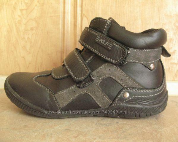 Демисезонные ботинки KLF 35р, кожа, стелька 21см, мальчику
