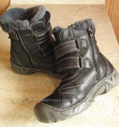Ботинки KLF, зима, кожа, внутри 21. 5 см, мальчику на 8-9 лет