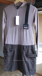 Новое платье, комбо гольфа и твидовой юбки два в одном, 44-46 р