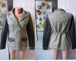 Очень классная курточка бренд ZEBRA, рукава и карманы кожзам .