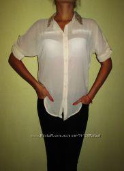 Шифоновая блузка, рубашка, пайетки