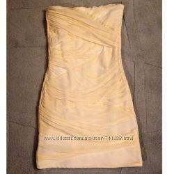 TOPSHOP платье желтое коктейльное
