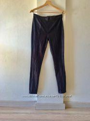 Штаны брюки лосины Mango casual кожа замша