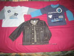 Комплект на мальчика. Джинсовая куртка-пиджак и регланы