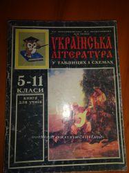 Українська та зарубіжна література у таблицях і схемах 5-11 класи