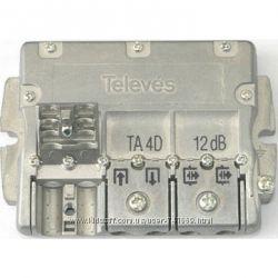 Мультидиапазонный ответвитель Televes на 4 отвода