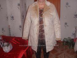 Полу пальто демисезонное очень мягенькоесвиду похоже на дубленку 50 р-р