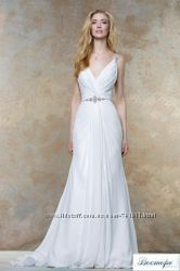 Шифоновое греческое свадебное платье