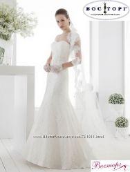 Новое красивое свадебное платье рыбка
