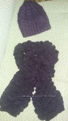 Шапка зимняя и оригинальный шарф
