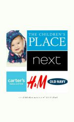 ������� � ���������� ������ Carters, Childrens Place, Old Navy, H&M
