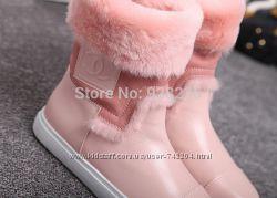 Модные зимние сапоги  Шанель, реал. фото