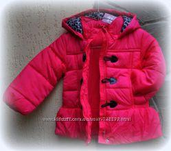 малиновая демисезонная курточка matalan 3-4года