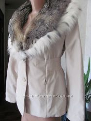 Зимняя меховая куртка пихора на подстежке из кролика 40-42-44 разм.