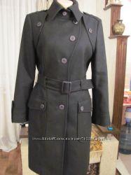 MEXX. Новое черное шерстяное демисезонное пальто. Миди.