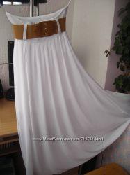 Белая шифонова юбка