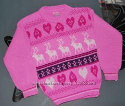 Теплые вещи на девочку свитер туника на 2-3 года