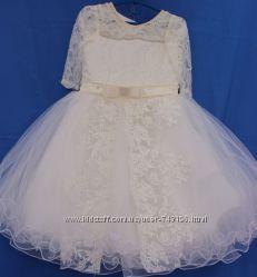 Нарядное пышное бальное платье на 1-8 лет. Большой выбор