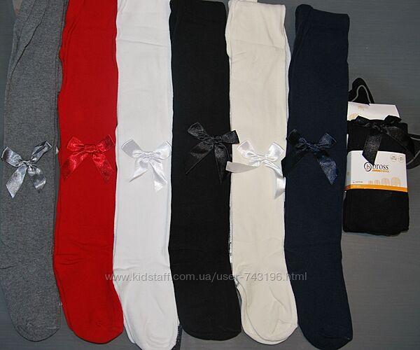 Нарядные трикотажные колготы 7-9, 9-11, 11-13 bross бросс атласный бантик