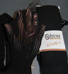 Ажурные подростковые колготы 146-152, 158-164, 170 bross бросс  разные