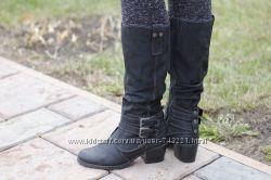 Удобные и стильные высокие ботинки Marco Tozzi. Раз. 37