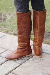 Крутые стильные кожаные высокие сапоги Sacha. Раз 40