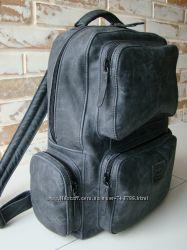 СкидкаКачественный тактический городской кожаный рюкзак с карманами винтаж