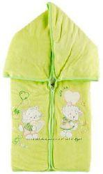 Акция Конверт- одеяло для новорожденого из велюра и кулирана на синтепоне