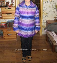 Удлиненная теплая куртка р. 48 отличное состояние и цена
