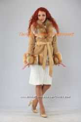 Куртка Нежная лисичкаиз натуральной замши с лисой