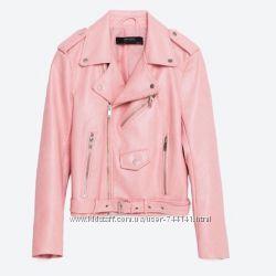 Куртка косуха розовая Зара Zara