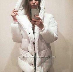 Куртка дутая зимняя с капюшоном женская