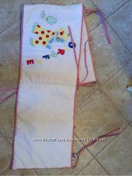 Одеяло наволочка и  защита на детскую кроватку