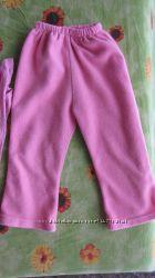 Штаны махровые 1-2 года. Длина 49, пояс резинка 18