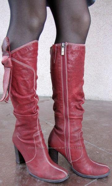 Сапоги Medea осенние кожаные 36-37 размер